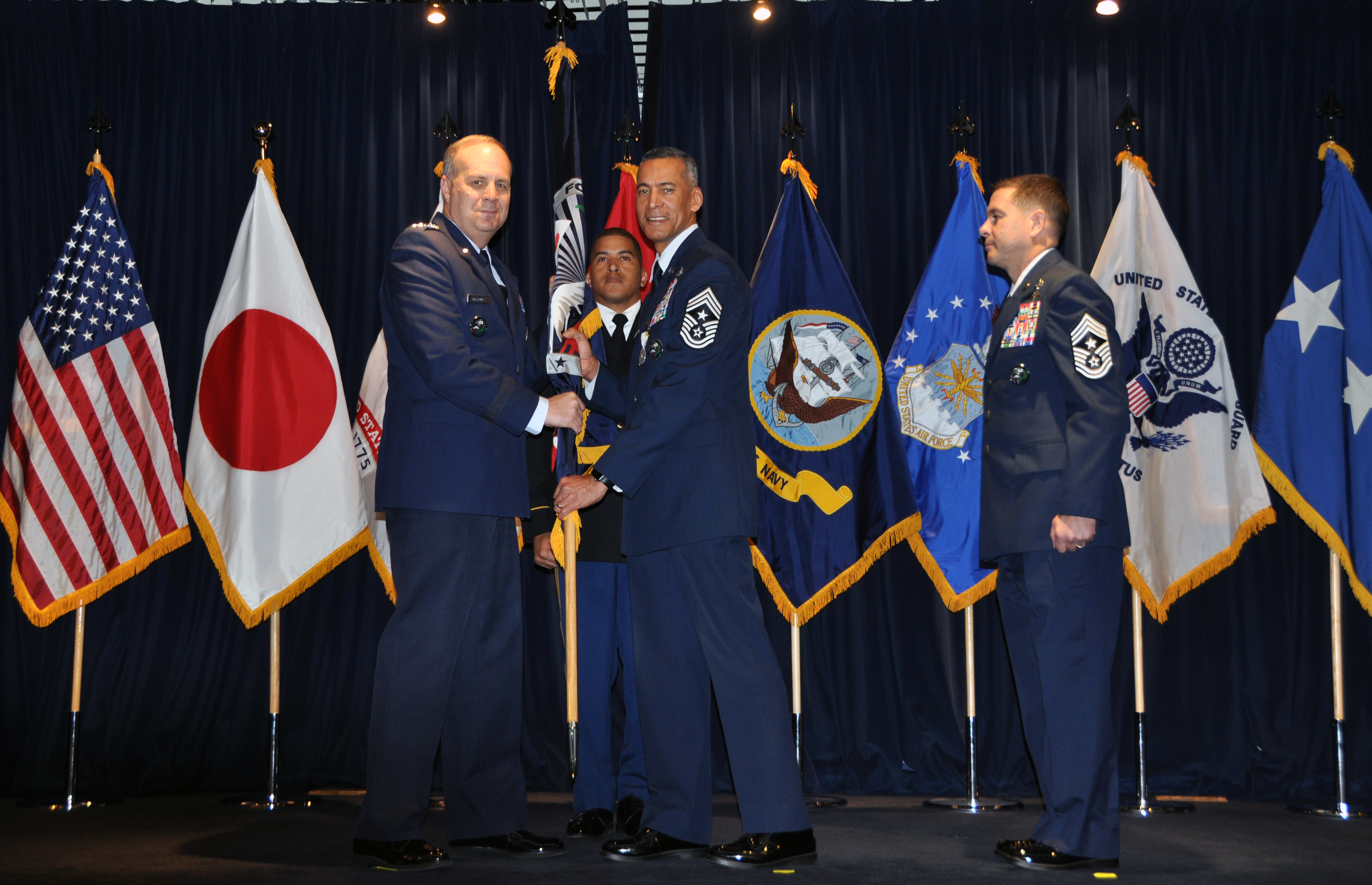 U.S. Forces Japan and 5th Air Force receive two new senior enlisted leaders